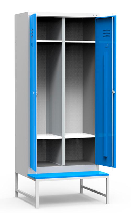 Металлический шкаф ШР 22 на подставке со скамьей купить недорого в Екатеринбурге