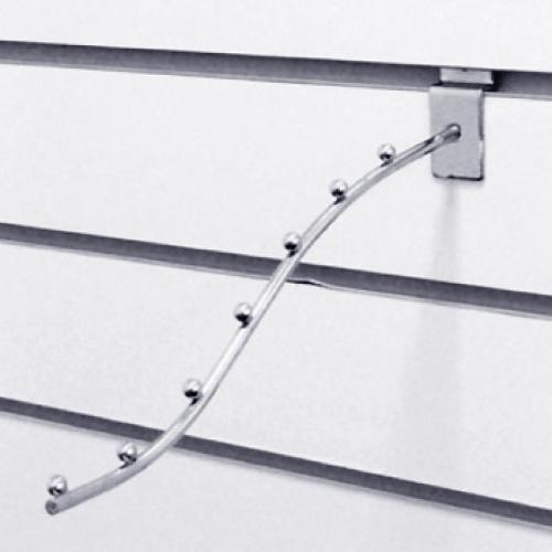 Кронштейн изогнутый с 7-ю шариками L=250 мм, хром F105/250