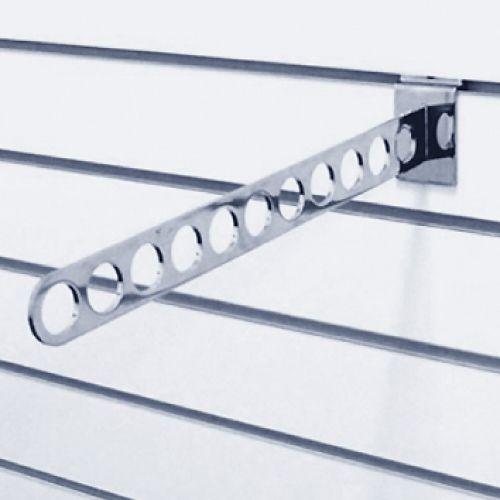 Кронштейн наклонный с 11-ю отверстиями L= 400 мм, хром F106 для экономпанелей купеть недорого Екатеринбург