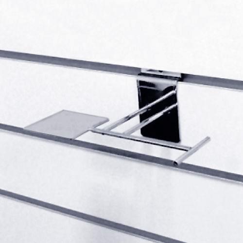 Полка обувная горизонтальная под каблук хром F92 для экономпанелей купеть недорого Екатеринбург