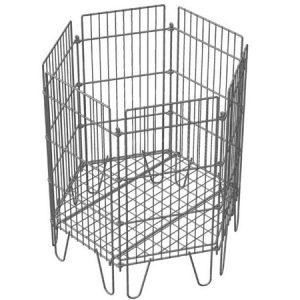 Корзина разборная, шестигранная, хроматированный цинк для магазина супермаркета купить недорого