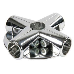 Соединение угловое для труб с 2 держателями полок UNO-12 купить недорого